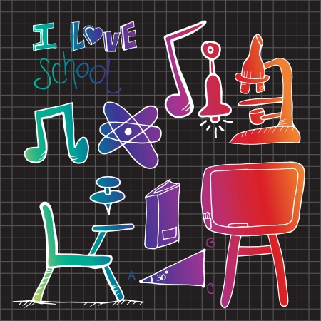 Back to School science icons. Vector illustration Vector