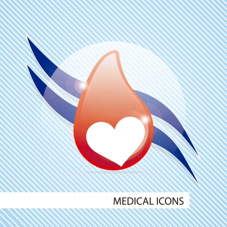 Medical icons over blue background vector illustration Stock Vector - 17351939