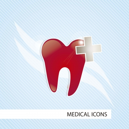 Medical icons over blue background vector illustration Stock Vector - 17351928