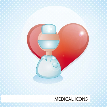 Medical icons over blue background vector illustration Stock Vector - 17351935