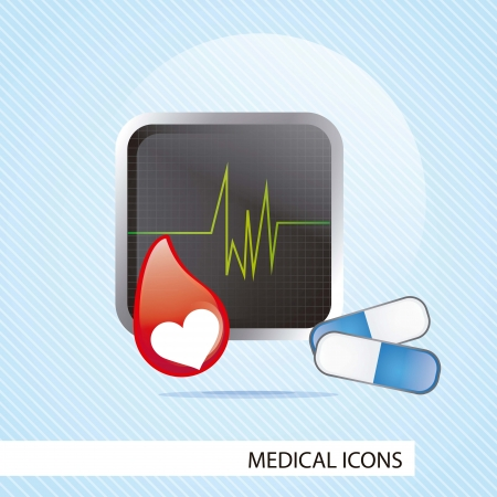 Medical icons over blue background vector illustration Stock Vector - 17351942