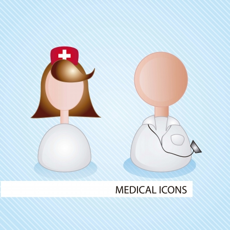 Medical icons over blue background vector illustration Stock Vector - 17351934