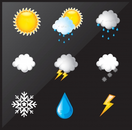 weather differents over black background vector illustration  Stock Vector - 17428091