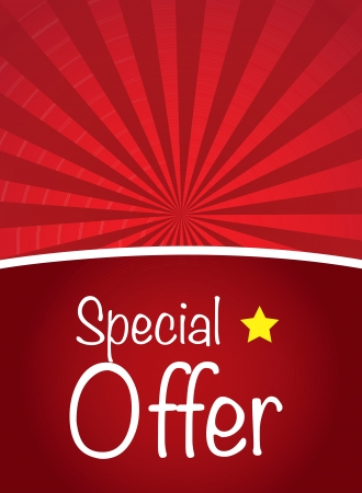 Special offer over red background with a star Vector