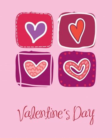 love card to celebrate valentines day vector illustration Stock Vector - 17427268