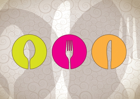 Cutlery icons over white background vector illustration Stock Vector - 17428342