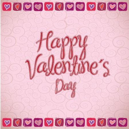 love card to celebrate valentines day vector illustration Stock Vector - 17428353