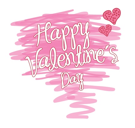 love card to celebrate valentines day vector illustration Stock Vector - 17427977