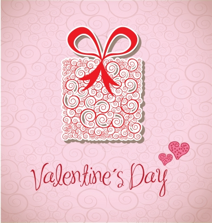 Valentines day over pink background vector illustration Stock Vector - 17428364