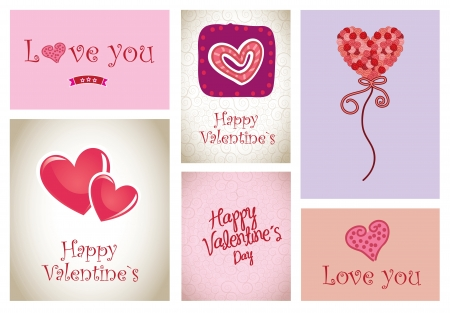 love icons and cards vector illustration valentines day Stock Vector - 17428359