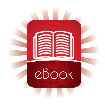 E book announcement over white background vector illustration    Stock Vector - 17427935