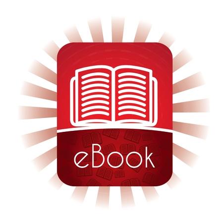 E book annuncio su sfondo bianco, illustrazione vettoriale