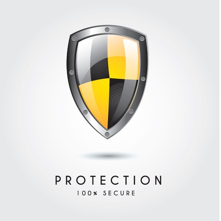 Protection icon over white background vector illustration Vector