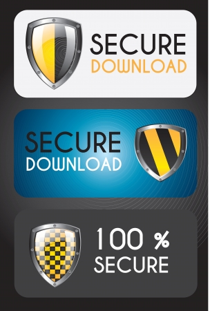 Secure icons over black background vector illustration Vector
