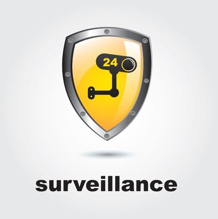 Surveillance icon over white background vector illustration Stock Vector - 17427933