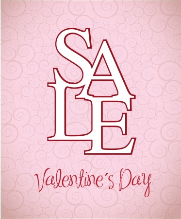 Valentines day sale over pink background vector illustration Stock Vector - 17428330