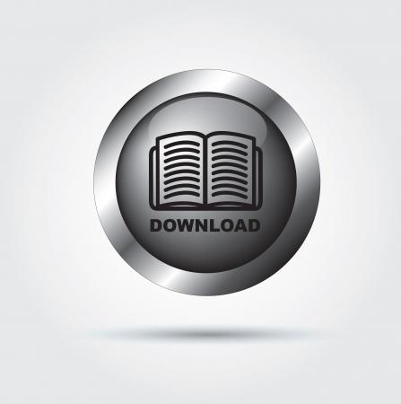 testigo: El bot�n Download ilustraci�n sobre fondo blanco, vector,