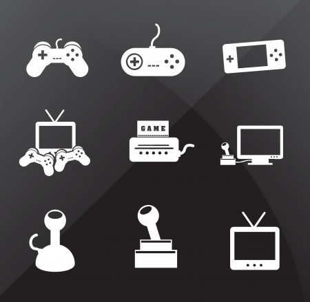 Control icons over black background vector illustration Vector