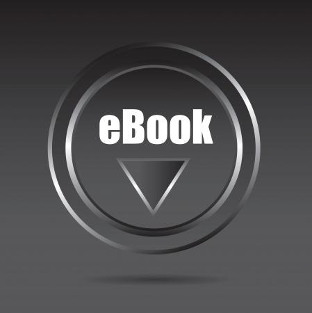 elettronic: Ebook download button over black background vector illustration Illustration