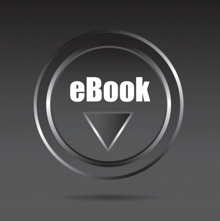 Ebook download button over black background vector illustration Vettoriali