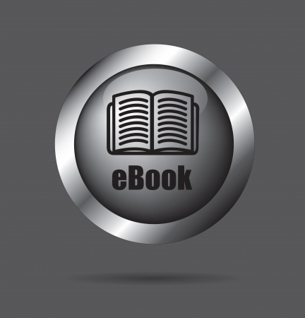 Ebook download button over black background vector illustration Vector