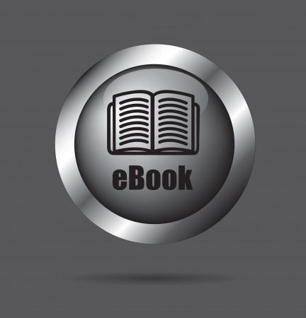 Ebook pulsante per il download su sfondo nero illustrazione vettoriale