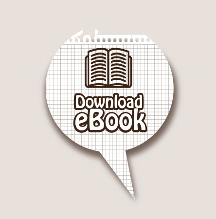elettronic: Ebook download button over black background vector illustration Illustration