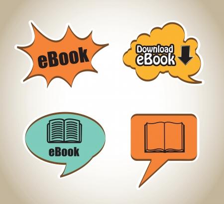 testigo: Ebook nube descarga en negro ilustraci�n vectorial de fondo Vectores