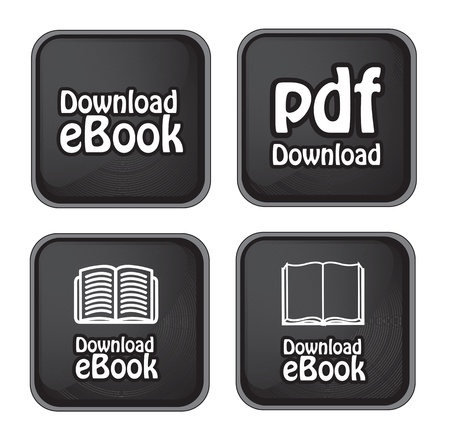 Ebook download button over black background vector illustration Stock Vector - 17427983