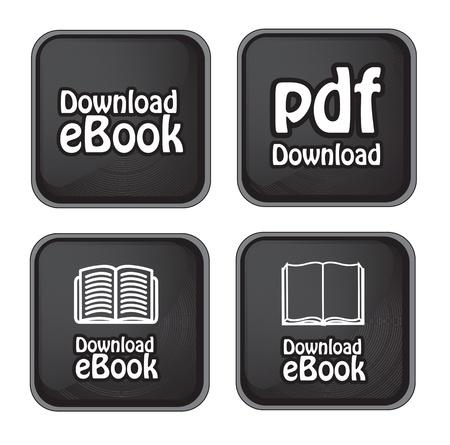 Ebook download button over black background vector illustration Stock Vector - 17427983