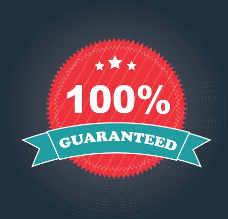 Guaranteed seal over gray background vector illustration Vector