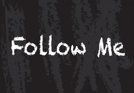 Follow me background over black vector illustration Stock Vector - 17428326