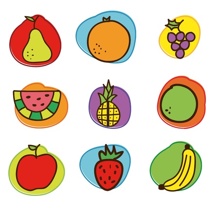 fruits drawing over white background. vector illustration Stock Vector - 17427306