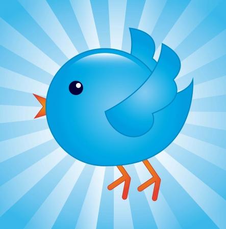 blue bird  over blue background. vector illustration Stock Vector - 17428103