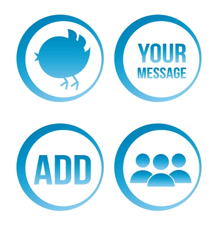 follower: communication seal over white background. vector