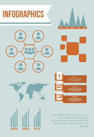 infographics set with different elements . vector illustration Stock Vector - 17428094