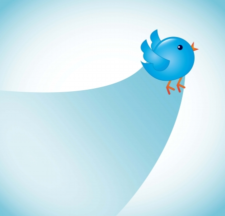 follower: blue bird  over blue background. vector illustration