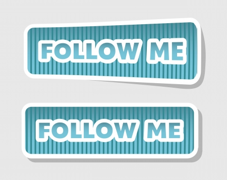 follow us and follow me icons. vector illustration Vector