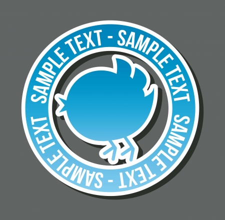twitter: blue bird with bubble thought over white background. vector Illustration