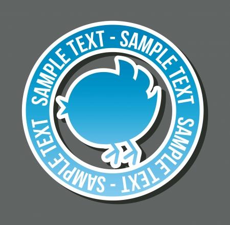 pajaro azul: p�jaro azul con la burbuja de pensamiento sobre fondo blanco. vector Vectores