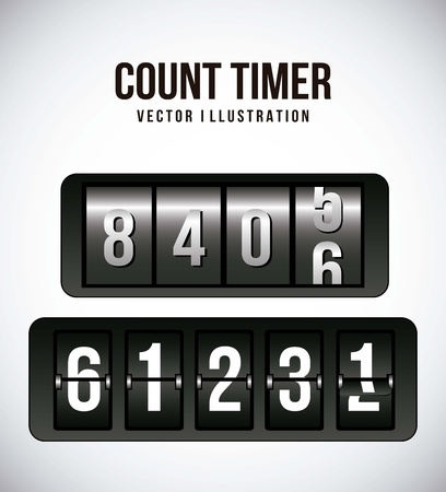 count timer over gray background. vector illustration