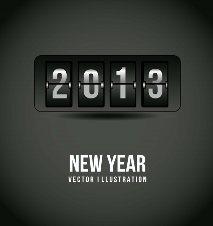 2013 new year over gray background. vector illustration Vector