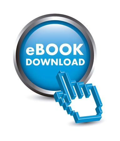 elettronic: ebook button with cursor hand. vector illustration Illustration
