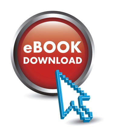 elettronic: ebook button with cursor pointer. vector illustration