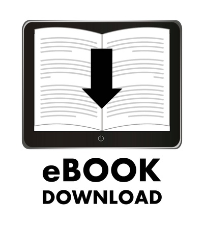 ebook download over white background. vector illustration Stock Vector - 17427285
