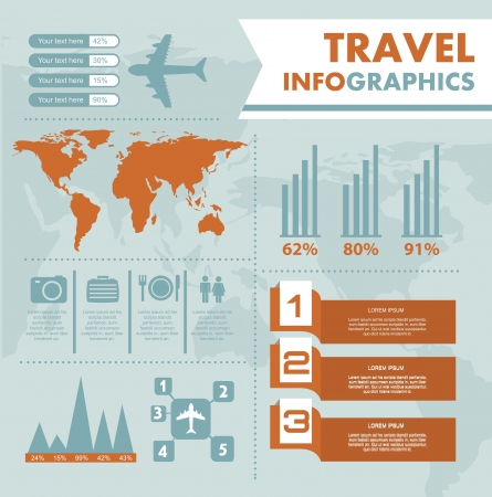 infographics set with different elements . vector illustration Stock Vector - 17428324