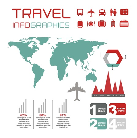 infographics set with different elements . vector illustration Stock Vector - 17427740