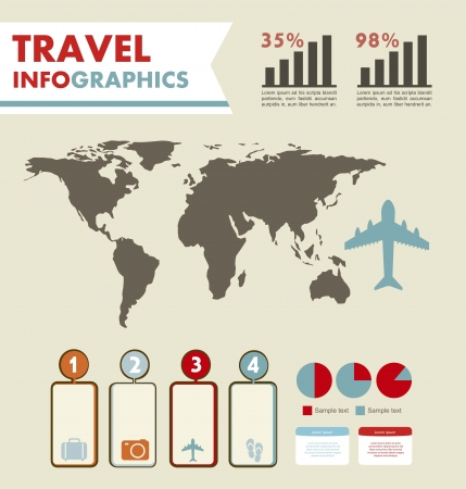 infographics set with different elements . vector illustration Stock Vector - 17427798