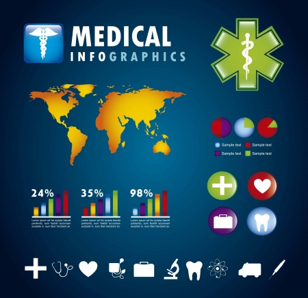 infographics set with different elements . vector illustration Stock Vector - 17427797
