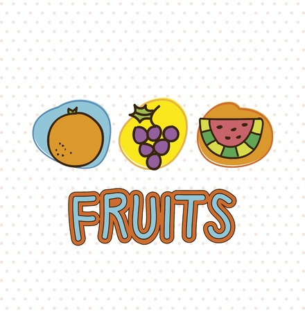 fruits drawing over white background. vector illustration Stock Vector - 17427576